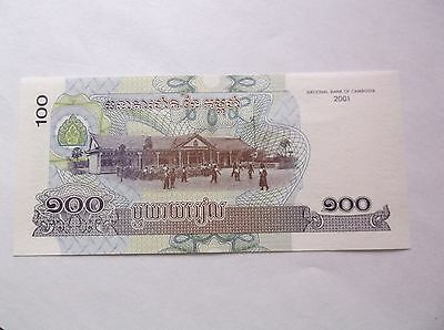 Cambodia  2002-50 Riels- 2001-100 Riels Banknotes- Uncirculated