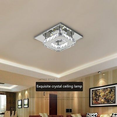 Modern Silver Chrome Metal Crystal Ceiling Light lamp Fitting Pendant Chandelier
