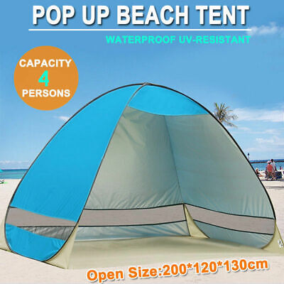 Portable Pop Up Beach Tent Canopy UV Camping Fishing Mesh Sun Shade Shelter