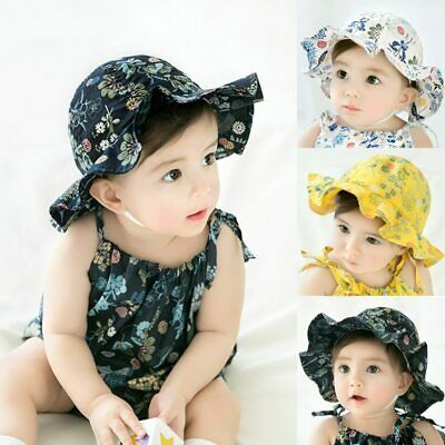 Baby Sun Caps Infant Bowknot Flower Hat Bucket Hat Newborn Kids Girls Summer Cap