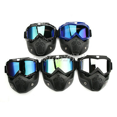 Motorcycle Dirt Bike Off Road Racing Goggles Glasses Anti-UV Eyewear Helemt Mask