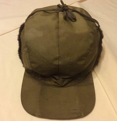 Vintage Original 1960s Eddie Bauer Down Hunting Cap Hat Large USA