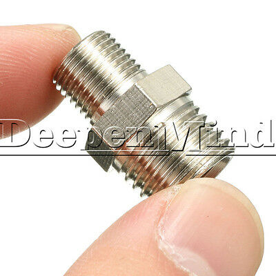 1/4'' BSP Male to 1/8'' BSP Male Airbrush Hose Fitting Connector Adaptor
