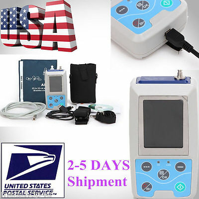 US Warehouse!! 24 HOURS Ambulatory Blood Pressure Monitor Sphygmomanometer NIBP