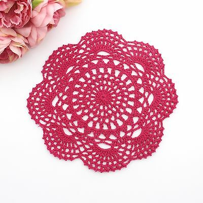 Crochet doily in Magenta pink 20 - 22 cm for millinery , hair and crafts