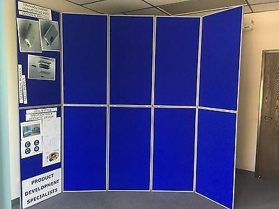 2 pcs 5 Panel Folding Trade Show Backdrop Booth Banner Exhibit Display 4' x 10'