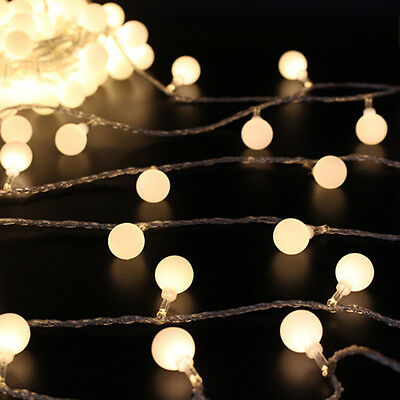 20/50/100 LED String Fairy Lights Christmas Round Ball Blubs Wedding Party Lamp