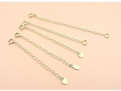 1 x 925 Sterling Silver Stamped TAG Necklace Bracelet Chain EXTENDER +Bolt CLASP