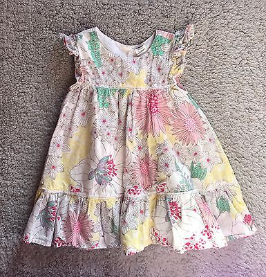 Baby Girl Old Navy Floral Summer Dress Size 12-18 Months