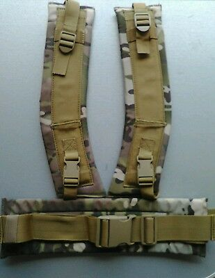 Tas Alice Pack Harness Multicam - Hip Belt And Shoulder Strap Set 900D Double Pu