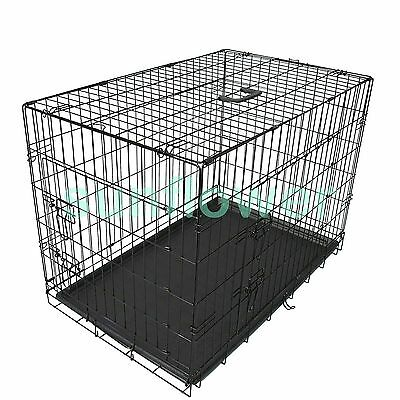 """Pet cage Collapsible Dog Puppy Rabbit Metal Wire Crate kennel 24""""30""""36""""42""""48"""""""