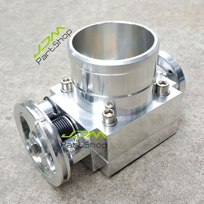 80mm High Flow Alloy Aluminum Universal Intake Throttle Body For RB25 Manifold