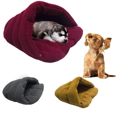 for Pet Cat Dog Nest Bed Puppy Soft Warm Cave House Sleeping Bag Mat Pad S M L