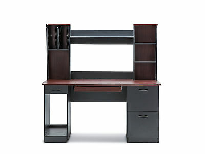 Modern Contemporary Home Office Work Computer Table Desk & Hutch Drawer Storage