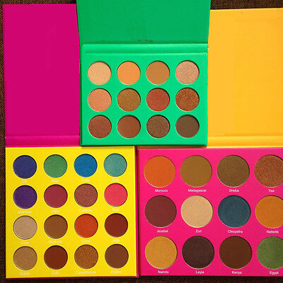 12 Colors Cosmetics Shimmer Matte Eyeshadow Red/Yellow/Green Eye Shadow Palette