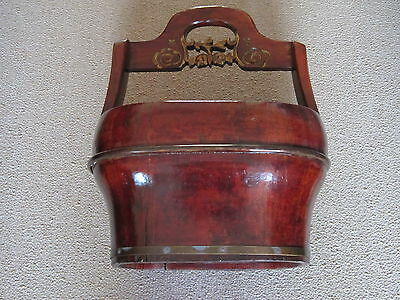 Chinese Antique Wooden Bucket with Carved Art on Handle