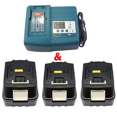 UK Stock Makita DC18RA DC18RC charger,18V 3.0Ah BL1830 LITHIUM ION battery NEW