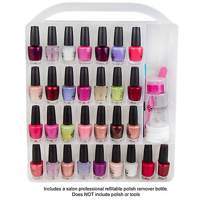 Nail Caddy Universal Nail Polish Case Holder Storage Clear Stores 60 Bottles ...