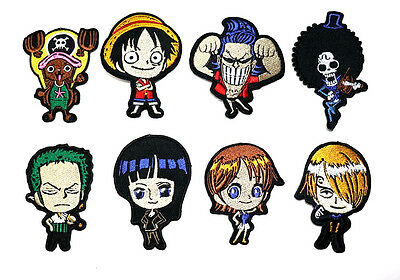 One Piece Japanese manga series Pirate Cartoon Flag Anime Clothing Iron on Patch