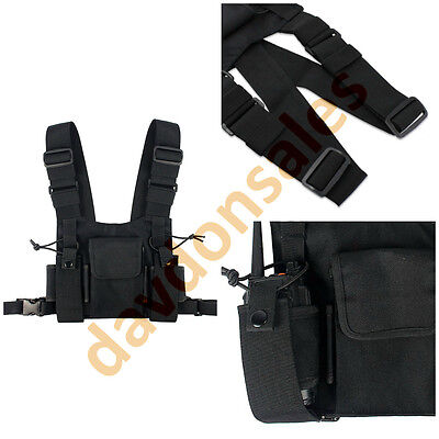 Radio Chest Harness Holder Strap Pack Walki Talki Bag Secure Rescue Universal