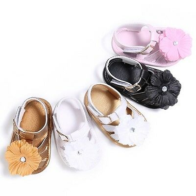 0-18M Newborn Girls Baby Flower Shoes Infant Toddler Summer Soft Sole Sandals