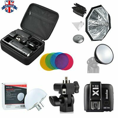 UK Godox 2.4 TTL HSS Two Heads AD200 Flash+X1T-N For Nikon+Softbox Diffuser Kit