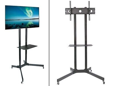 Messe Standhalterung LCD LED Monitor VESA 600 Media-Ablage Rollen Messestand LB8