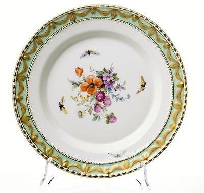 Dining plate KPM Berlin Kurland flowers & insects 1.Wahl 22cm