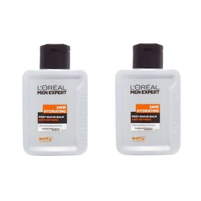 2 x L'Oreal Men Expert Hydra Energetic Post Shave Balm 100ml Non Greasy & Sticky