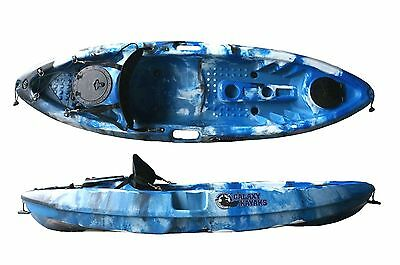 Sit On Top Fishing Kayak Canoe Galaxy Grayling - Blue Camouflage