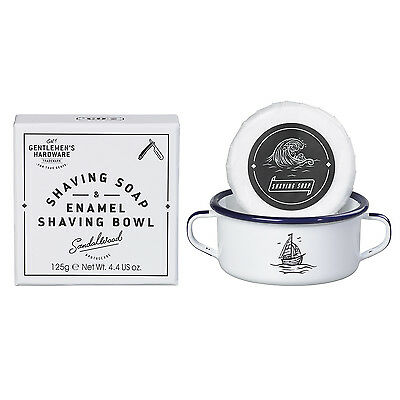 Gentlemen's Hardware - Shaving Soap & Enamel Shaving Bowl in Presentation Box