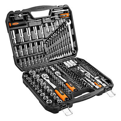 """NEO Drive Metric Socket Wrench Set 1/4"""", 3/8"""" and 1/2"""" 219 pcs (08-671)"""