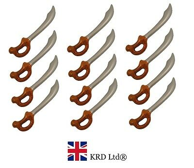 12 x INFLATABLE PIRATE SWORDS Blow Up Dagger Cutlasses Hen Stag Party Novelty UK