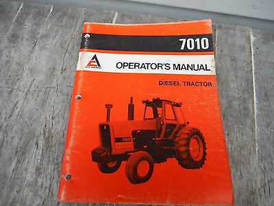 Allis Chalmers 7010 Tractor Operators Manual