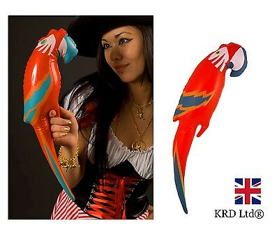 INFLATABLE PARROT Blow Up Summer Hawaiian Tropical Pirate Costume Party 48cm UK