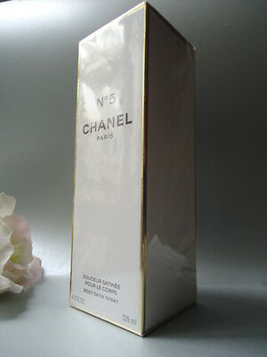 CHANEL No5 BODY SATIN SPRAY 125ml BEYOND RARE NEW SEALED & GIFT WRAPPED MINT BOX