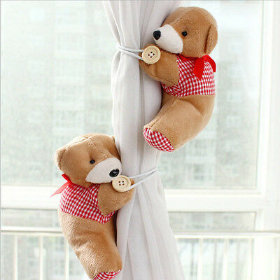 1 Pair Baby Kid Nursery Bedroom Cartoon Bear Curtain Tieback Holder Buckle WS