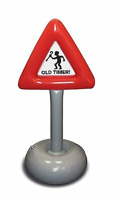 Inflatable Old Timer Sign - Funny Novelty Road Sign Birthday
