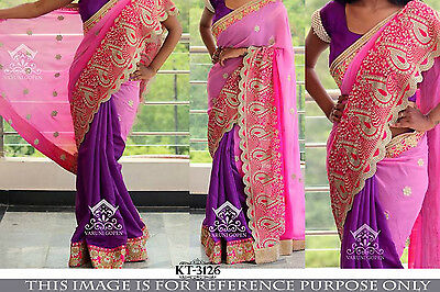 Designer Bollywood Traditional Indian Ethnic New Wedding Party Wear Saree Sari
