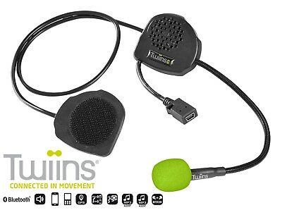 Twiins D3 Bluetooth Hands-Free Communication System Motorcycle Helmet Kit Mp3