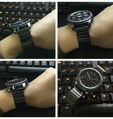 NEW 22mm Ceramic Watch Strap Band Wristband For Samsung Gear S3 Classic Frontier