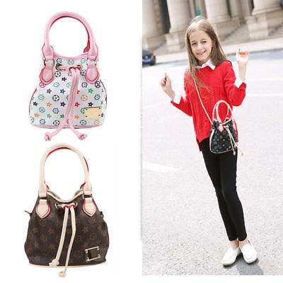 Fashion Girls Baby Handbags PU Leather Bags Children Kids bucket Shoulder bag