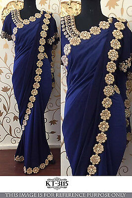 Bollywood Indian Ethnic Traditional Designer Saree Sari Bridal Party Wear Dress