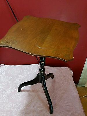 Vintage L. Hitchcock table candle stand