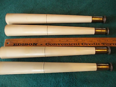 """4 Mid Century Modern Tapered Blond 14"""" Table Legs, Threaded, Free S/H"""