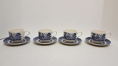 Set of 4 Churchill Made in England Cups and Saucers