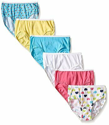 Hanes Toddler Girls 6-Pack Brief, Assorted, 2/3