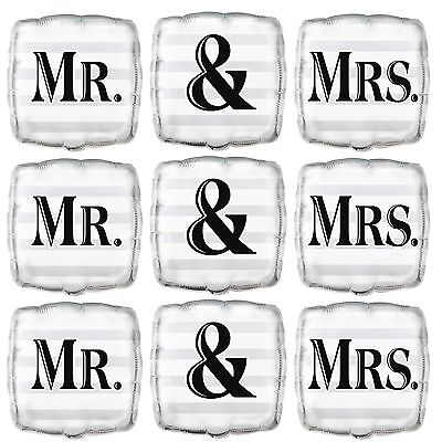 Mr and Mrs Foil Balloon Helium Wedding Party Decorations Mr and Mr Mrs and Mrs