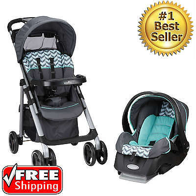 NEW Baby Travel System Stroller Car Seat Boys Toddler Infant Carriage Set 3 in 1