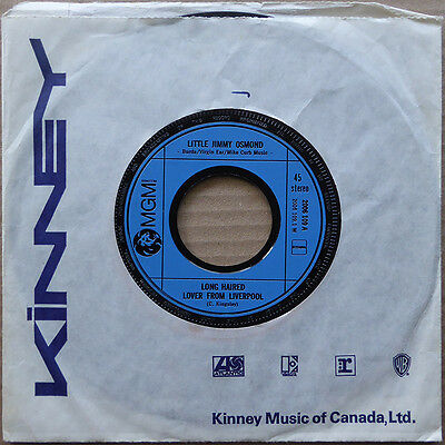 """7"""" Little Jimmy Osmond - Long Haired Lover From Liverpool - Holland 1982 - VG++"""